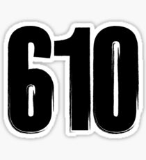 610 Area Code  Sticker