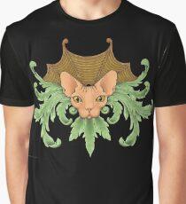 Katze Sphynx Ornamente Grafik T-Shirt