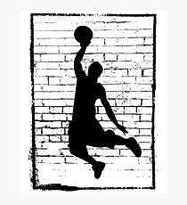 Basketball Slam Dunk Silhouette Photographic Print