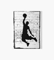 Basketball Slam Dunk Silhouette Art Board