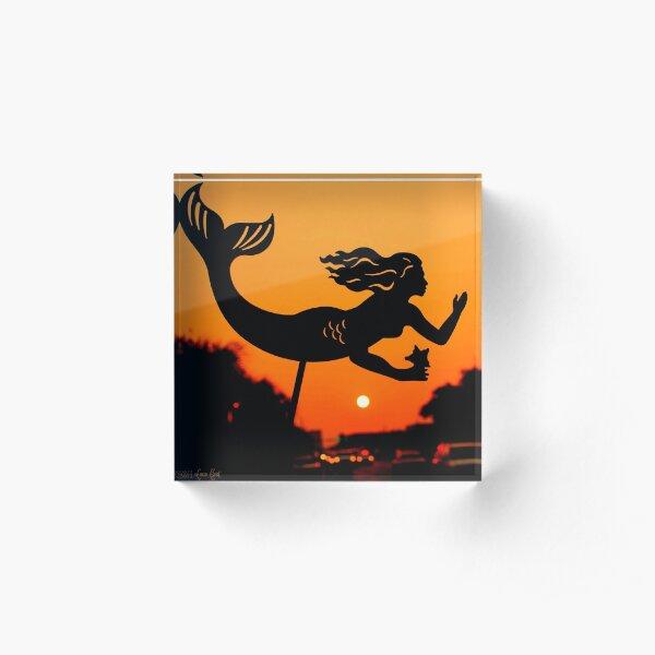Burnt Umber Mermaid Acrylic Block