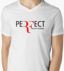 peRFect RoGer fEDerEr Men's V-Neck T-Shirt