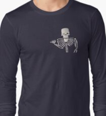 what's up with that skeleton person guy Long Sleeve T-Shirt