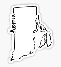 Rhode Island Home State Outline Sticker
