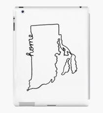 Rhode Island Home State Outline iPad Case/Skin