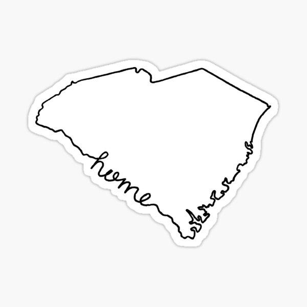 South Carolina Home State Outline Sticker
