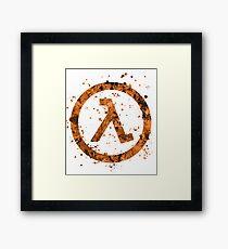 Half Life Splatter Framed Print