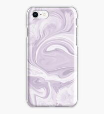 MARBLED FLORAL-LAVENDER iPhone Case/Skin