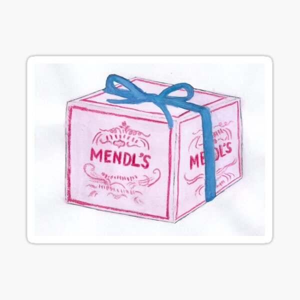 Mendl's Box Sticker