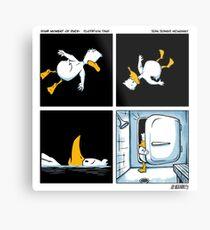 Your Moment of Duck: Flotation Tank Metal Print