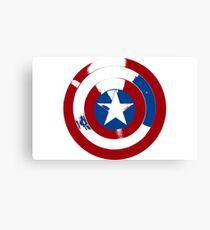 Cap's Shield Canvas Print