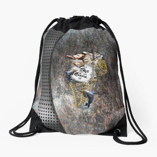 Metal 3D texture design Drawstring Bag