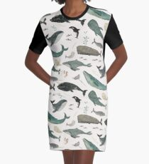 Whale Song Graphic T-Shirt Dress