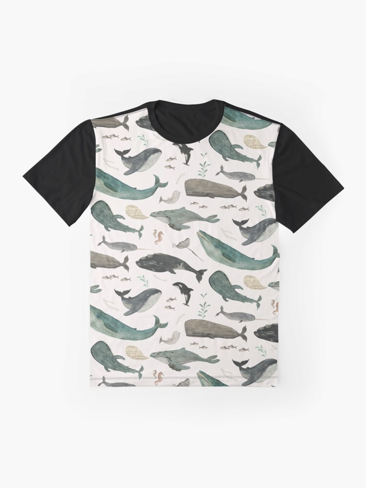Alternate view of Whale Song Graphic T-Shirt