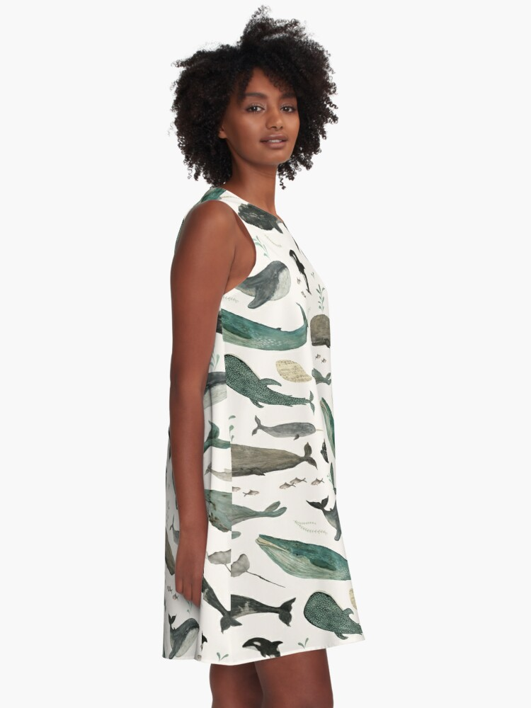 Alternate view of Whale Song A-Line Dress
