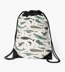 Whale Song Drawstring Bag