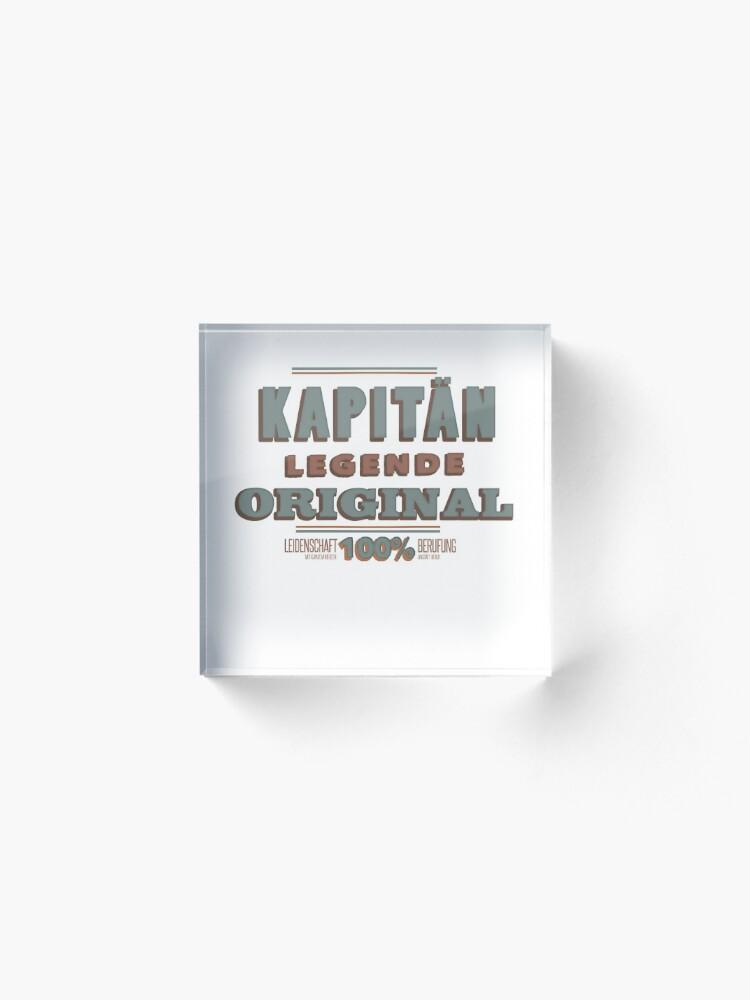 Alternative Ansicht von Kapitän Acrylblock
