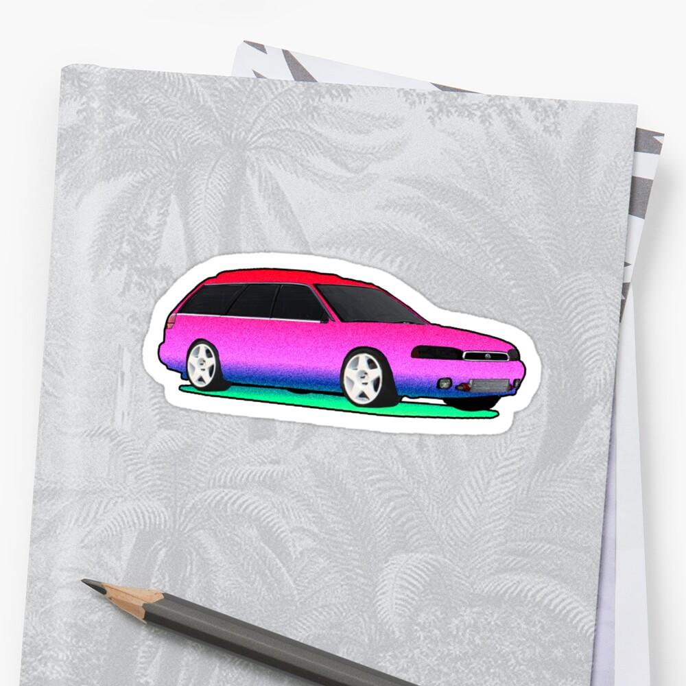 Subaru Legacy Vaporwave Logo by AndrewGTB