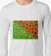 Green Orange Geometric Abstract  T-Shirt