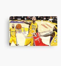 Corky's playing basketball Canvas Print