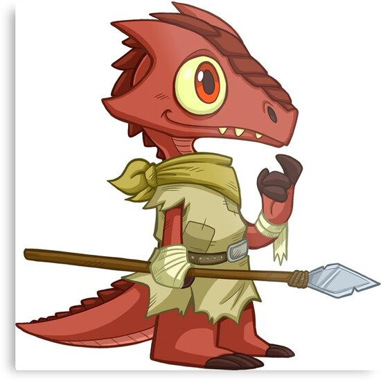 'Tiny Kobold - Cute D&D Adventures' Metal Print by kickgirl