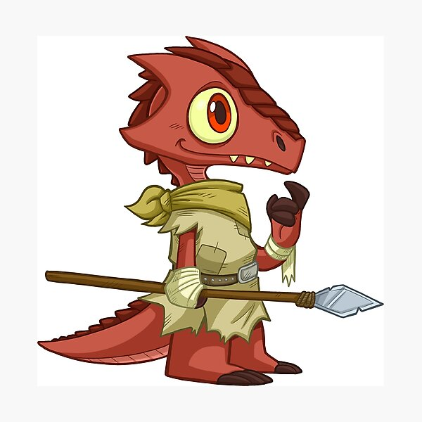 Tiny Kobold - Cute D&D Adventures Photographic Print