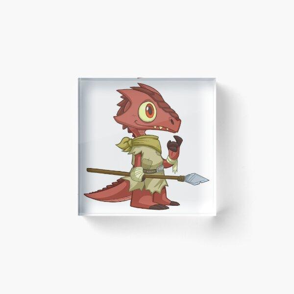 Tiny Kobold - Cute D&D Adventures Acrylic Block