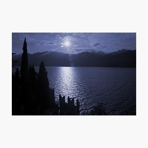 Lago di Garda, in blue Photographic Print