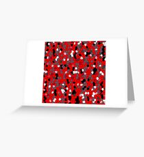 Red Pieces Greeting Card