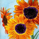 SERENITY Sunflowers by Anne Gitto