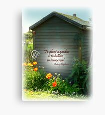 Brightening the Garden  Shed Canvas Print
