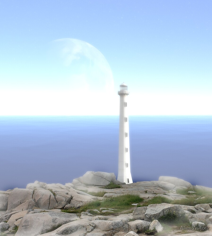 The Reason for Lighthouses - Collaboration with Lucindawind/alienvisitor by AlienVisitor