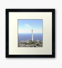The Reason for Lighthouses - Collaboration with Lucindawind/alienvisitor Framed Print