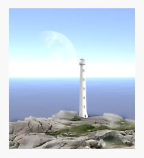 The Reason for Lighthouses - Collaboration with Lucindawind/alienvisitor Photographic Print