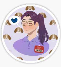 Dream Daddy - Damien With Puppies Sticker