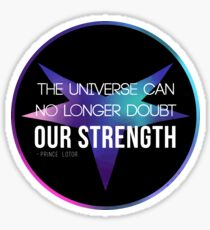 Doubt Our Strength Sticker