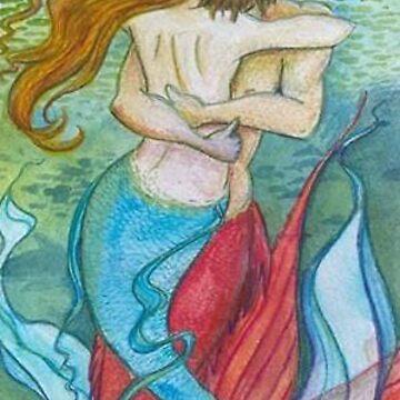 mermaids embrace by Aryahvayu