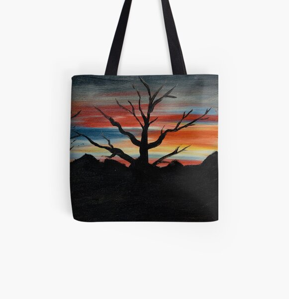 Sunset Silhouette All Over Print Tote Bag