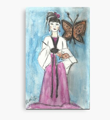Painting A Butterfly Canvas Print