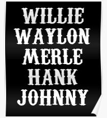 Country Music Legends Poster