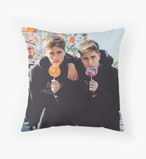 lolly pop twins Throw Pillow