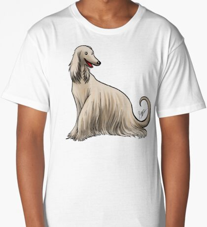 Afghan Hound Long T-Shirt