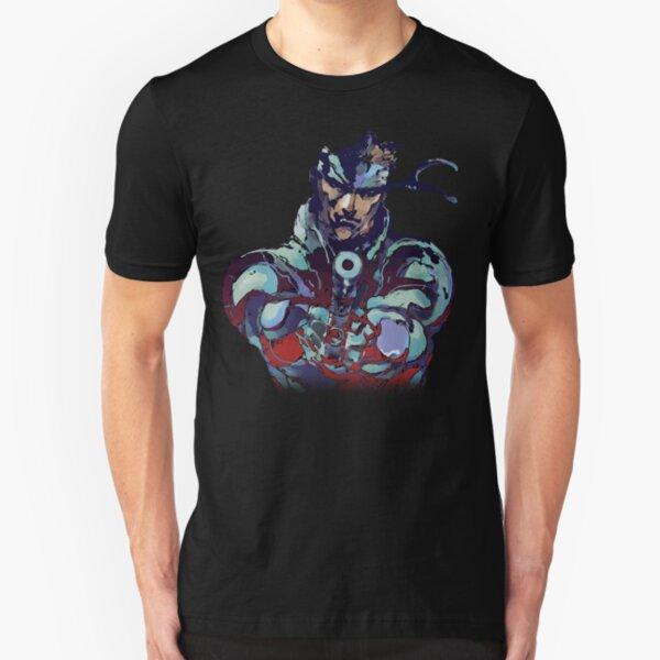 Metal Gear Solid Snake Classic RARE Design 100% Redrawn In Adobe Ilustrator Vector Format.  Slim Fit T-Shirt