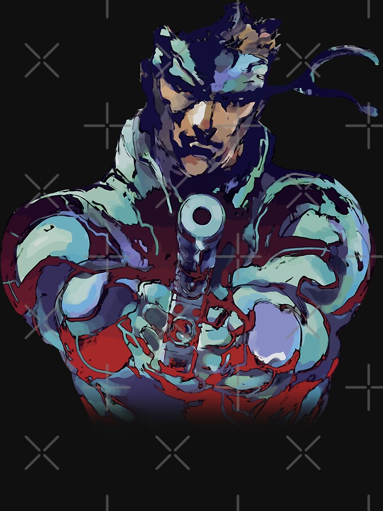 Metal Gear Solid Snake Classic RARE Design 100% Redrawn In Adobe Ilustrator Vector Format.  by gamingtee