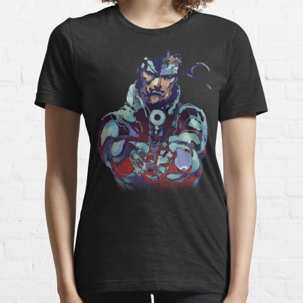 Metal Gear Solid Snake Classic RARE Design 100% Redrawn In Adobe Ilustrator Vector Format.  Essential T-Shirt