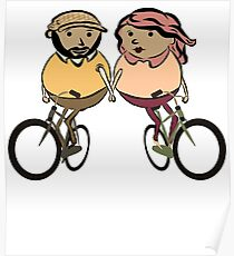 Lovers on bycicle Poster