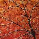 FALL TREES TRIPTYCH (RIGHT PANEL) by Tammera