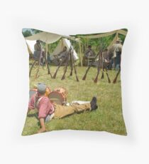 In Camp Throw Pillow