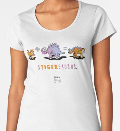 STIGERSAURUS™: Math Premium Scoop T-Shirt