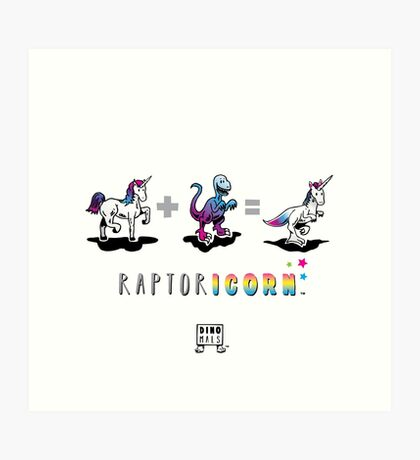 RAPTORICORN™: Math Art Print